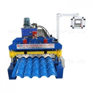 Glazed steel tile roof roll forming machine