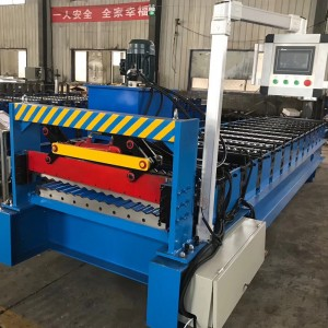 5.5KW motor power corrugated roof sheet roll forming machine