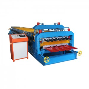 Glazed And Trapezoidal Roof Double Layer Roll Forming Machine