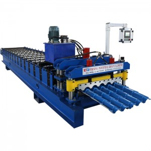 Steel Glazed Roof Roll Forming Machine