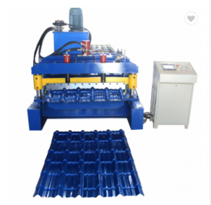 Hot Sale India colored glaze steel metal sheet glazed tile making roll forming machine