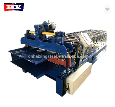 Steel tile double layer roof roll forming machine Featured Image