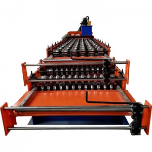 Double Layer Roof Forming Machine Glazed And Corrugated Roof Tile