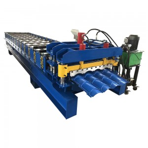 Glazed Roofing Tile Roll Forming Making Machine
