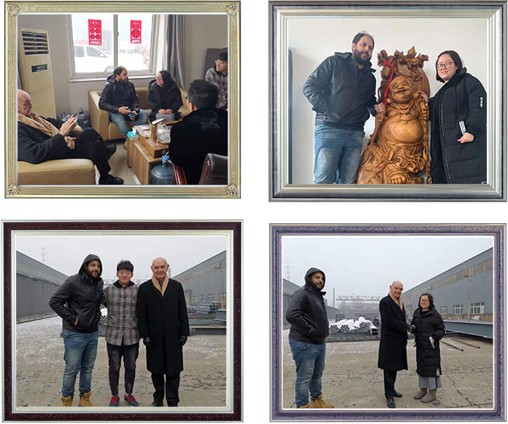Australian customers came to the factory to discuss cooperation issues.