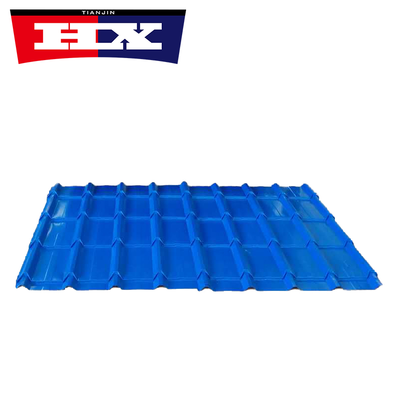 Trapezoidal Glazed Roof Tile In Blue Color Featured Image