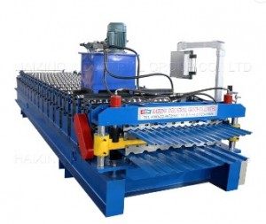 Automatic colorful aluminium double layer roof panel roll forming machine