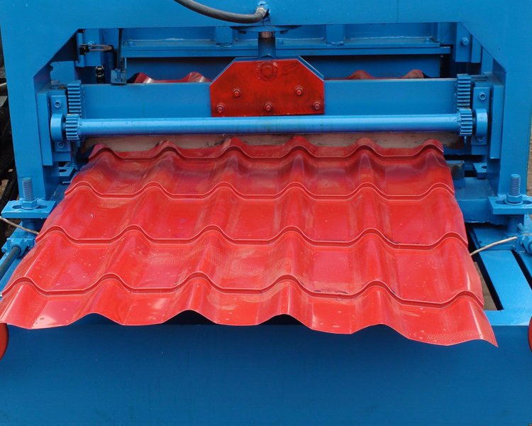 Glazed roof machine