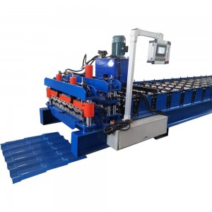 Color Steel Glazed Tiles Roof Panel Making Machine