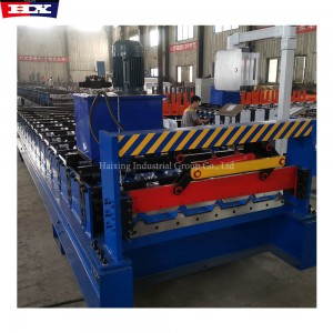 Galvanized Metal Trapezoidal Roof Sheet Roll Forming Machine