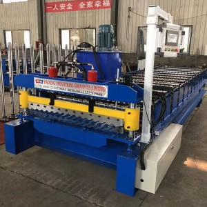 Color Steel Corrugated Roofing Sheet Roll Forming Machine