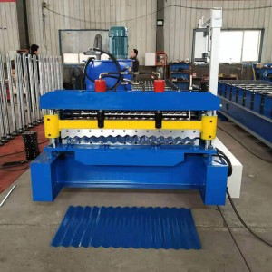 Galvanized corrugated roof sheet making machine