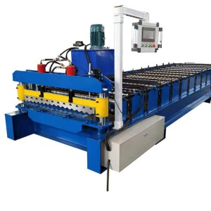 Stepped Tile Corrugated Sheet Metal Roof Making Machine