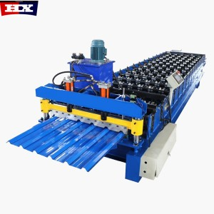 1080mm design trapezoid roof tile making machine