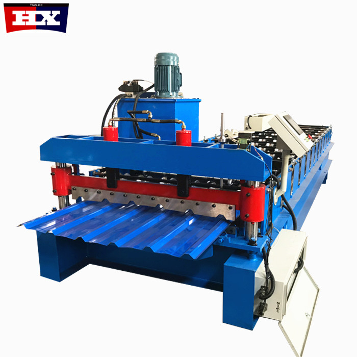 IBR USA Hot sale Fully Automatic PLC Control Trapezoidal Tile Roof Metal Sheet Roll Forming Machine Featured Image