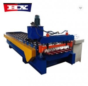 High speed metal roof panel glazed tile press machine