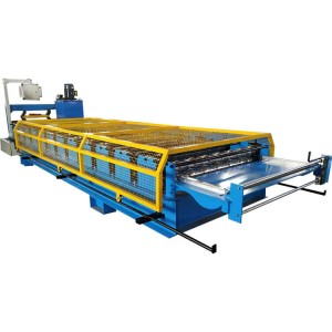 1127mm design trapezoid roof tile making machine