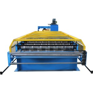 Plc control color steel trapezoidal roof panel machine