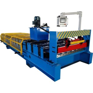 aluminum trapezoidal sheet roof wall panel machine