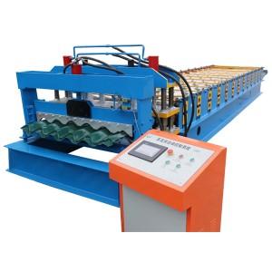 OEM/ODM China Glazed Tile Roll Forming Machine Steel Roof Cold Molding Machine Roof Forming Machine