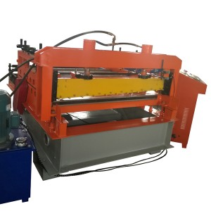 Steel plate leveling machine
