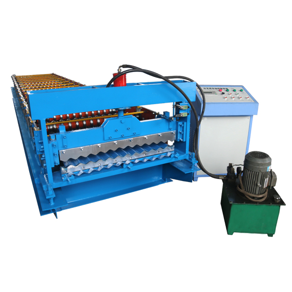 2017 wholesale price High Performance Down Pipe Roll Forming Machine - Corrugated Automatic Roof Tile Machine – Haixing Industrial Featured Image