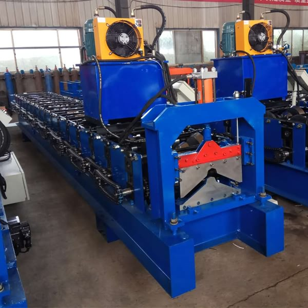 Wholesale Price China Hydraulic Guillotine Steel Metal Shearing Machine - Color Steel Ridge Cap roll Forming Machine – Haixing Industrial