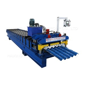 Bolivia 800 glazed single layer roof roll forming machine