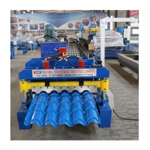 Efficiency glazed seamless metal roof shingles machine