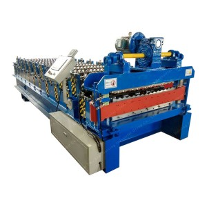 Aluminum Roofing Sheet Roll Forming Machine Double Layle Metal Tile Making Machine