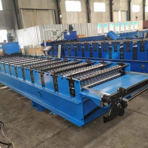 color steel aluminum wave sheet roof wall panel machine