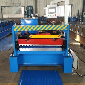 High configuration inclined bar shearing 850mm corrugated color steel tile forming machine