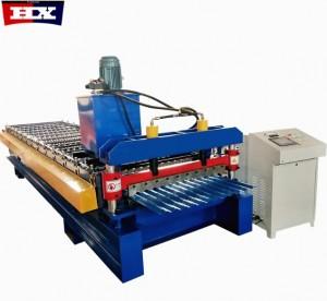 850 model corrugated metal PPGI roof sheet roll forming machine