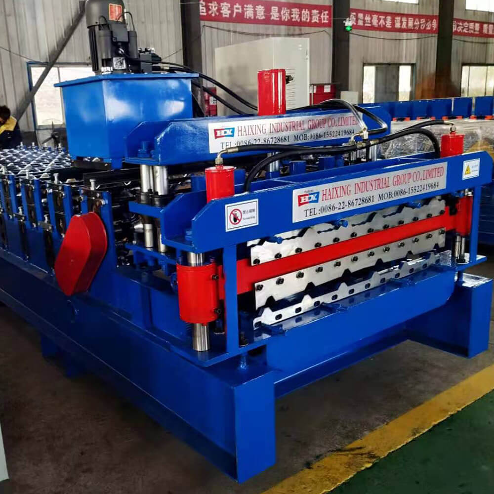 Color steel tile roll forming machine uses advanced automatic control software to achieve production information management