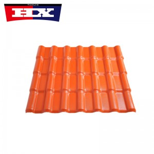 asa plastic material pvc synthetic roof tile