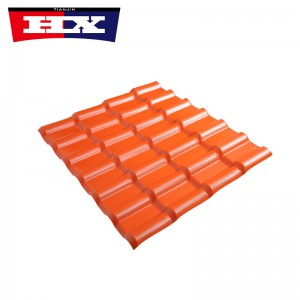 Spanish style pvc plastic asa synthetic resin roof tile
