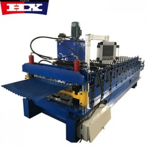High speed roof tile double layer roll forming machine two profiles corrugated/trapezoidal