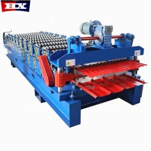 Low price trapezoidal and corrugated double layer forming roof machine China