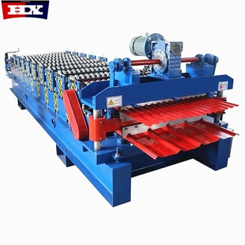 Factory price supply double layer roll forming machine used for corrugated ibr panel Featured Image