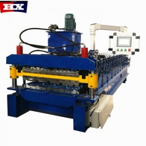 Hot Sale Africa 840 850 PLC Control Automatic Double Layer Roof Tile Steel Roll Forming Machine