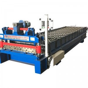 Trapezoidal galvanized roofing sheet machine