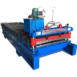 Trapezoidal sheet roof wall panel machine