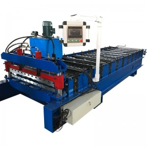 color steel trapezoidal roof panel machine