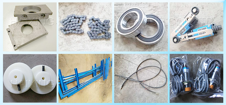 Easy-broken parts pictures for roof making machine