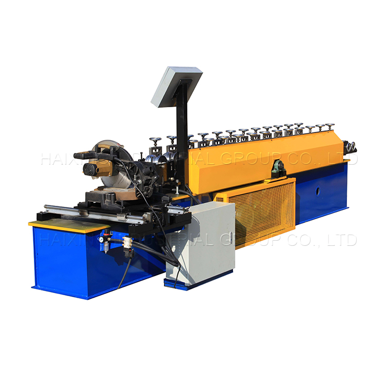 OEM/ODM Factory Steel Floor Board Making Machinery - Chinese Professional Hydraulic Electrical Steel Sheet Shutter Door Guide Rail Cold Roll Forming Machines – Haixing Industrial