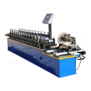 Roller shutter door forming machine flying saw cutting