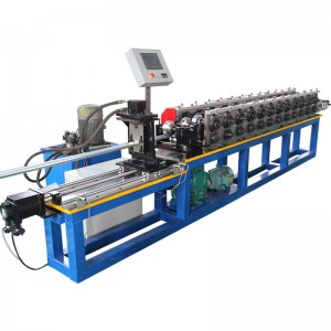 steel tracks light keel hat section roll forming machine
