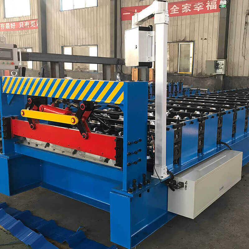 Aluzinc Panel Trapezoidal Metal Roof Roll Forming Machine produces products used for building exterior roof and wall panels