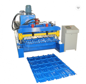 Metal Glazed Steel Roof Tile Making Roll Forming Machine For Tile Roof Profile