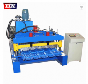 Glazed roof panel step tile cold roll forming machine
